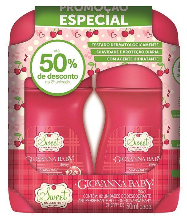 Pack c/2 Desodorante Rollon Giovanna Baby Cherry 50 ml