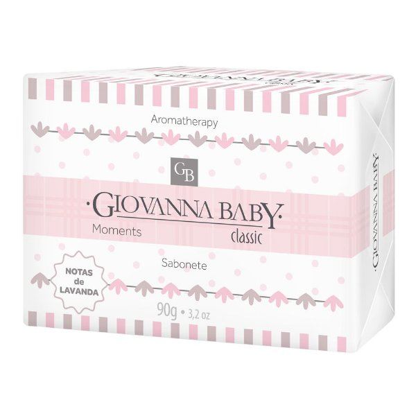 Sabonete Retangular Classic Giovanna Baby Moments 90 g