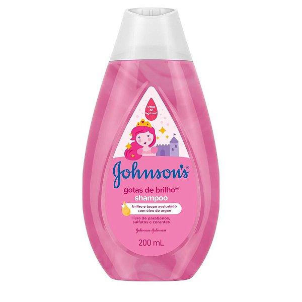 Kit c/ 3 Shampoo JOHNSON'S Baby Gotas de Brilho 200ml