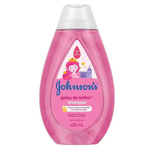 Kit c/ 3 Shampoo JOHNSON'S Baby Gotas de Brilho 400ml