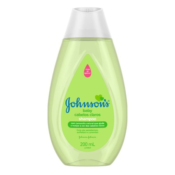 Kit c/ 4 Shampoo JOHNSON'S Baby Cabelos Claros 200ml