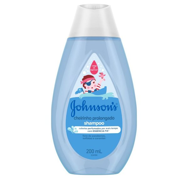 Kit c/ 4 Shampoo JOHNSON'S Baby Cheirinho Prolongado 200ml