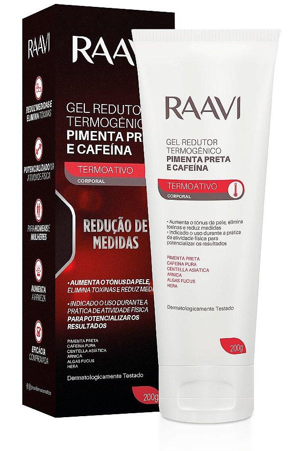 Gel Redutor de Medidas Raavi Termogenico Pimenta Preta e Cafeina 200g