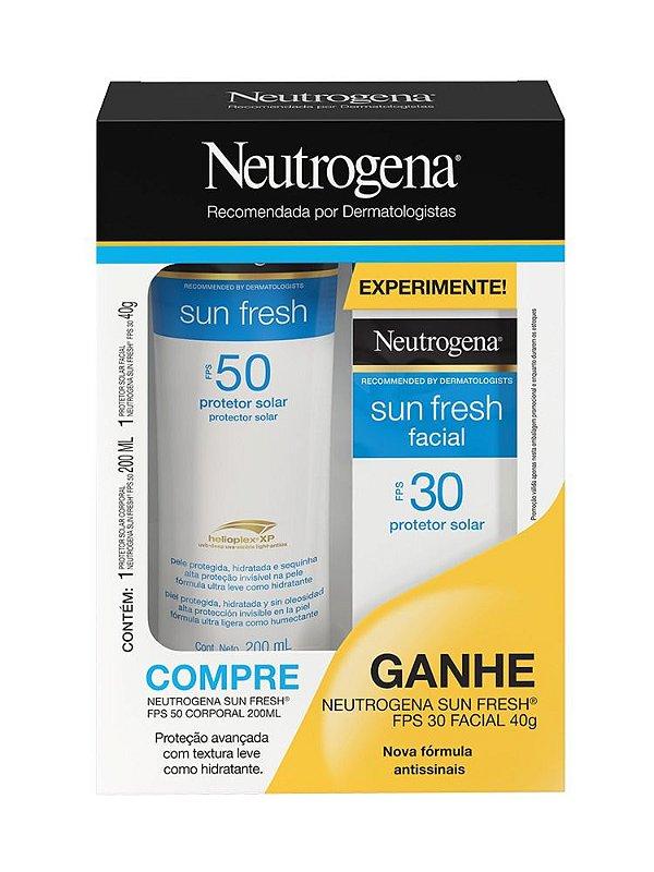 Promopack Protetor Solar Neutrogena Sun Fresh Fps50 200ml + Protetor Facial Sun Fresh Fps30 40g