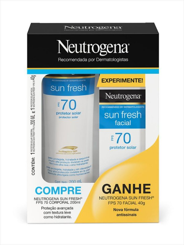 Promopack Neutrogena Sun Fresh FPS 70 200ml + Facial FPS 70 40g