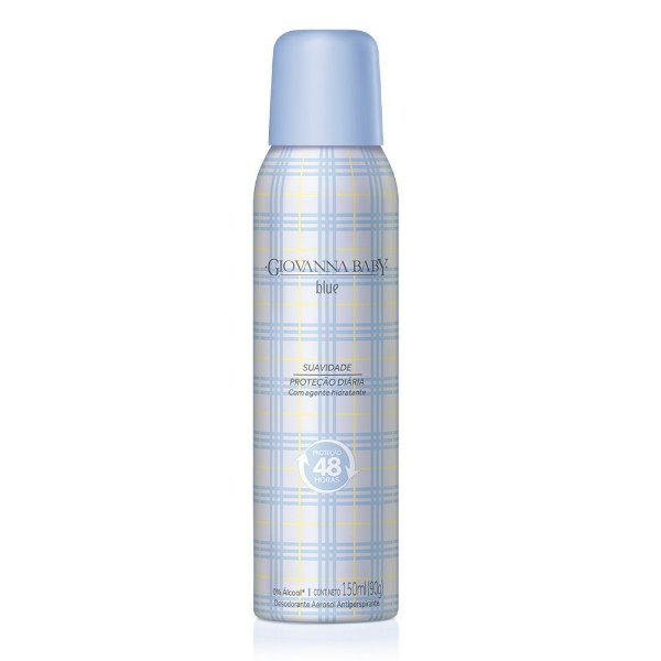 Kit c/ 2 Desodorante Aerossol Giovanna Baby Blue 150 ml