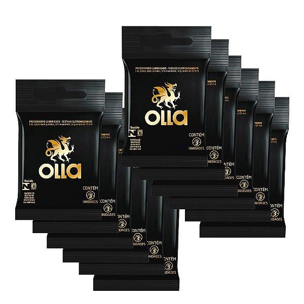 Kit c/ 12 Preservativo OLLA Lubrificado 3 unidades