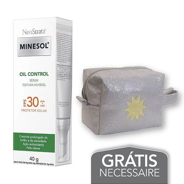 Na compra de 1 Neostrata Minesol Oil Control Sérum FPS 30 40g Leve 1 Necessaire Prata c/ Glitter Minesol