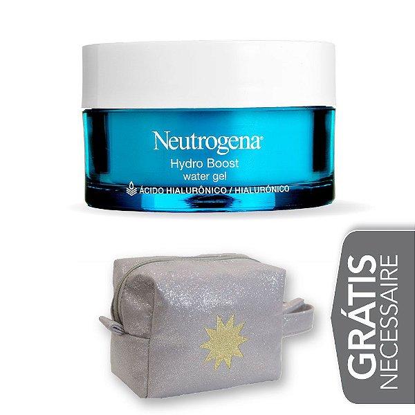Na compra de 1 Hidratante Facial NEUTROGENA Hydro Boost Water Gel 50g Leve 1 Necessaire Prata com Glitter Minesol