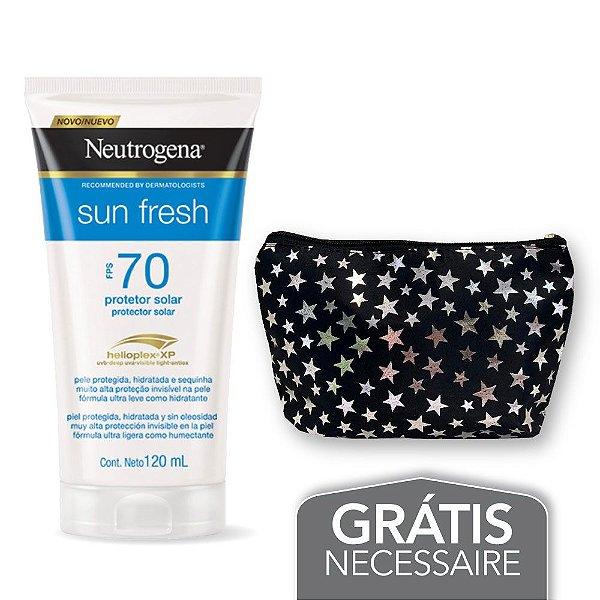 Na compra de 1 Protetor Solar NEUTROGENA Sun Fresh FPS 70 120ml Leve 1 Necessaire Estrela Neutrogena