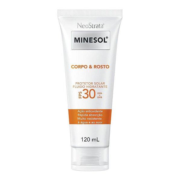 Neostrata Minesol Corpo e Rosto Protetor Solar Fluido Hidratante FPS 30 120 ml