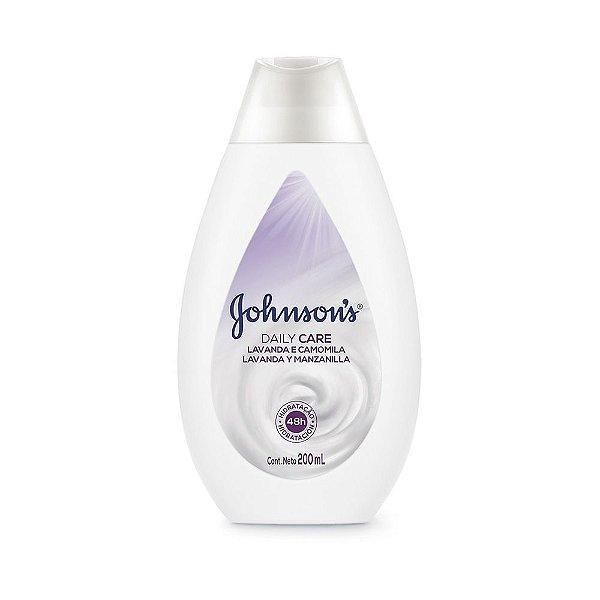 Hidratante Daily Care JOHNSON'S Lavanda e Camomila 200ml - CX c/ 12