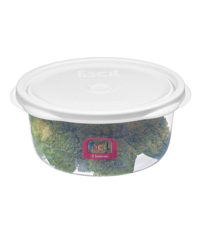 Kit c/ 7 Pote redondo Plástico Sanremo 1,3L