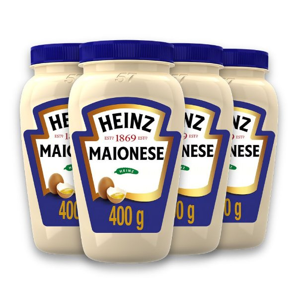 Kit c/ 4 Maionese Heinz Tradicional 400g