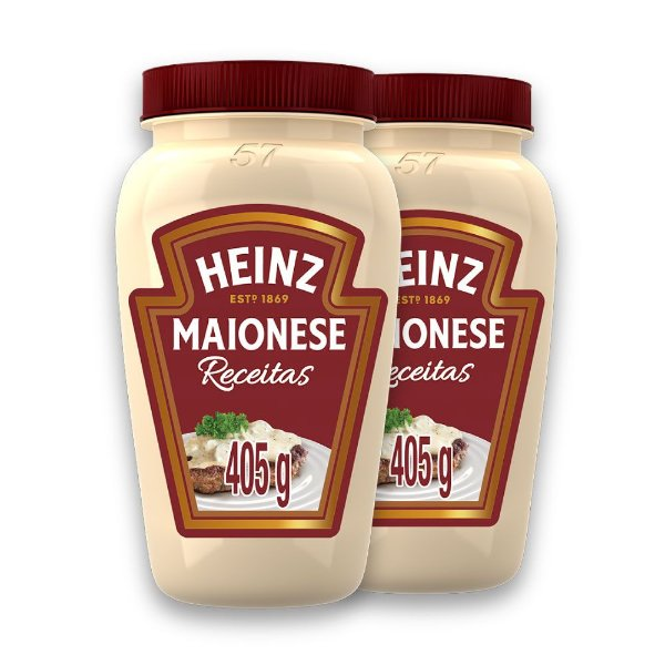 Kit c/ 2 Maionese Heinz Receitas 405g