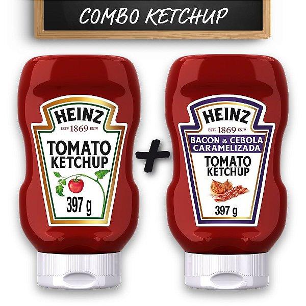 Kit c/ Ketchup Heinz Bacon e Ketchup Heinz Tradicional 397g