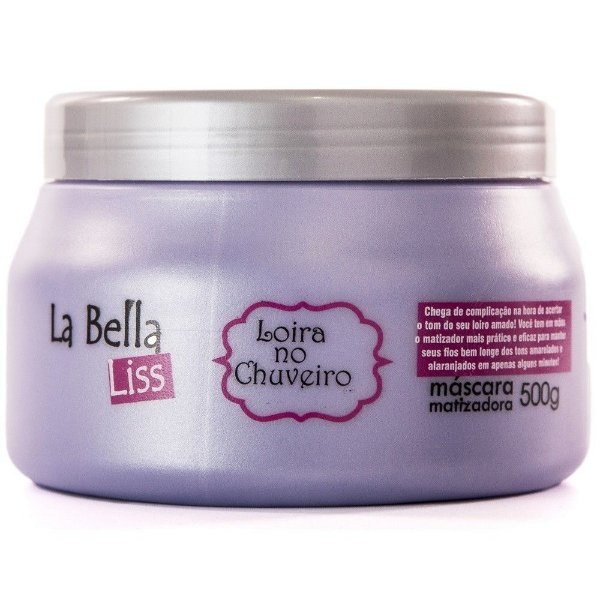 Loira no Chuveiro Efeito Platinado Máscara Matizadora La Bella Liss 500g