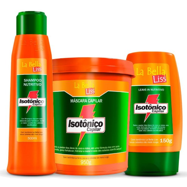 Kit Hidratante Isotônico Capilar Shampoo 500ml, Leave-in 150g e Máscara 950g