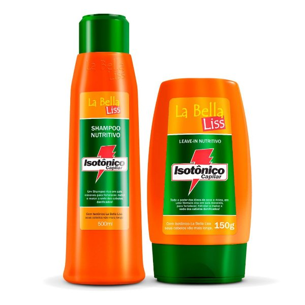 Kit Hidratante Isotônico Capilar Shampoo 500ml e Leave-in 150g La Bella Liss