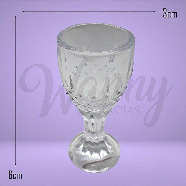 Mini Taça de vidro detalhada