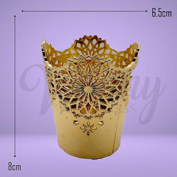 5087 - Mini Copo Decorativo Dourado