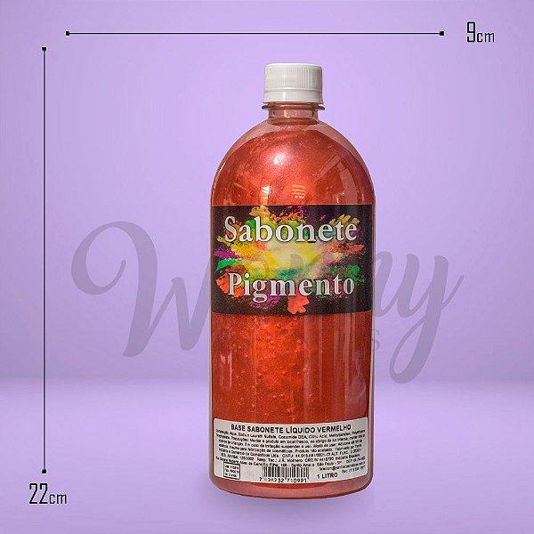 975 - Sabonete Liquido Pigmento Vermelho 1L