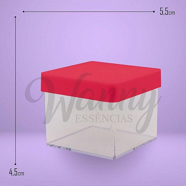 3056 - Caixa Acrílica Quadrada Vermelha