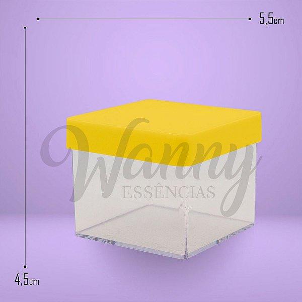 170 - Caixa Acrílica Quadrada Amarela