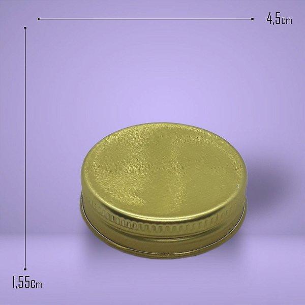 9480 - Tampa Alumínio Dourada 45mm