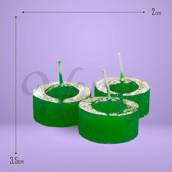 1165 - Vela Rechaud Verde C/6