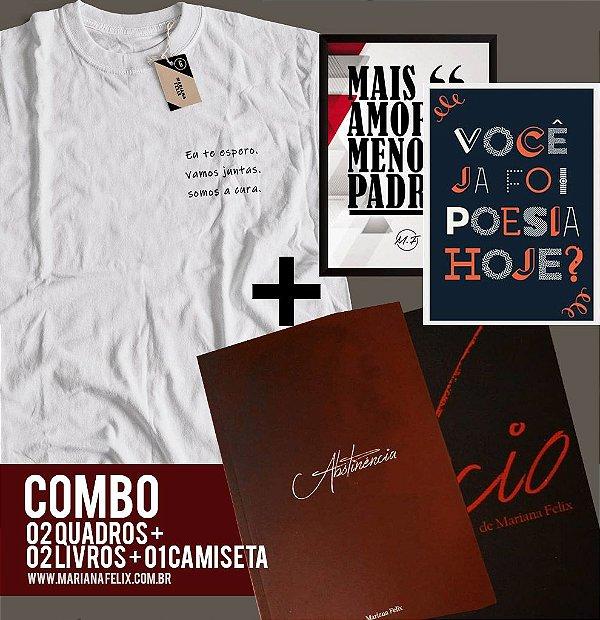 COMBO - 02 QUADROS + LIVROS VÍCIO E ABSTINÊNCIA + 01 CAMISETA