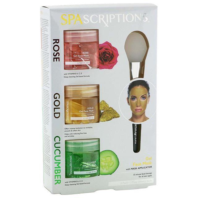 SPA Scriptions Máscara Facial de Rosas, Ouro e Pepino