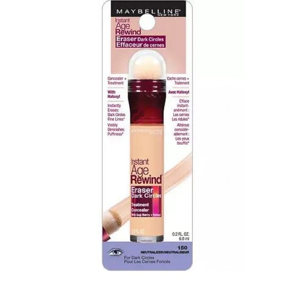 Maybelline Corretivo Instant Age Rewind Eraser Dark Circles Treatment Concealer 150 Neutralizer