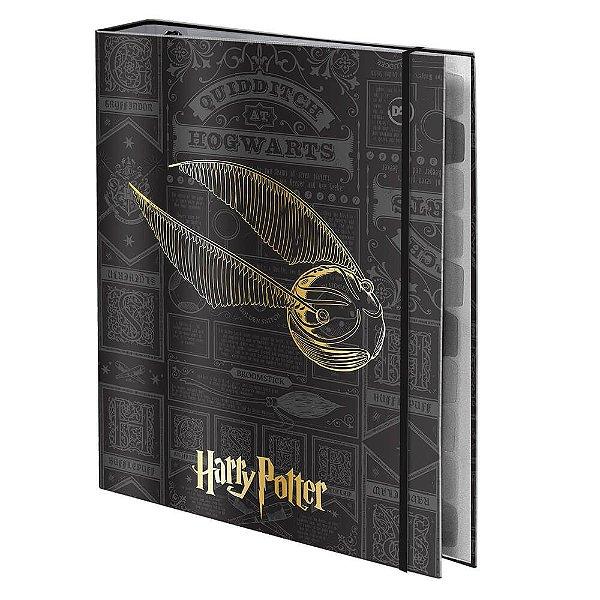 Fichário Universitário em Capa Dura e Elástico DAC Harry Potter com 48 Folhas - 3048