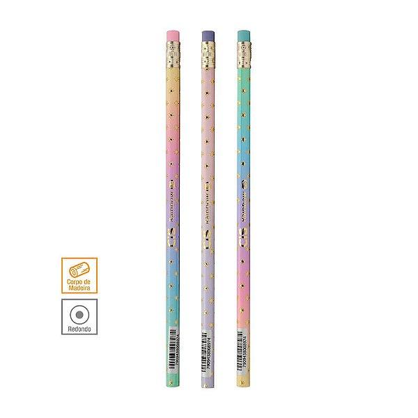 Lápis Preto com Borracha Rainbow CiS com 3 unidades- 56.1000