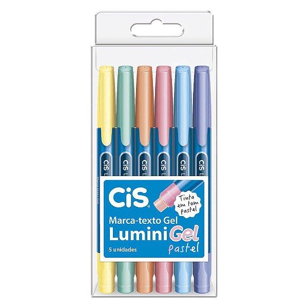 Marca Texto Pastel CiS Lumini Gel com 6 cores - 57.4400