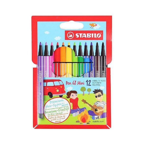 Canetas Stabilo Point 68 Mini com 12 cores - 31.4700