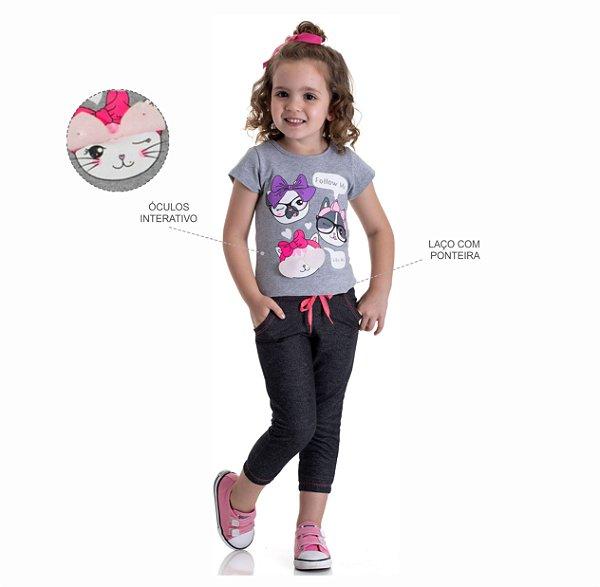 Kit 3 Conjunto Blusa + Jogger Moletinho Jeans 1 a 3