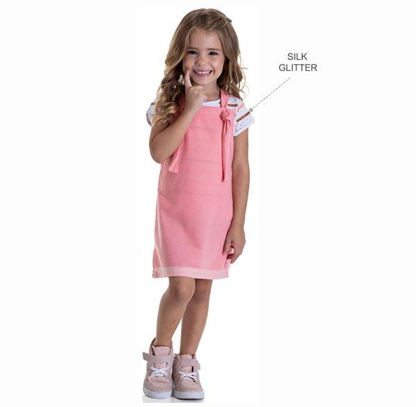 Kit 3 Blusas de Cotton com Listras de Glitter 1 a 3