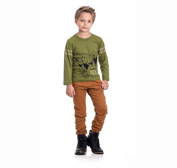 Kit 3 Camisetas Meia Malha Rex 4/8