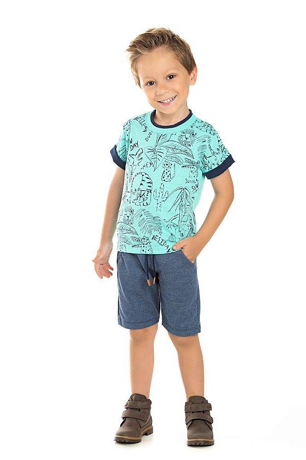 Kit 3 Camisetas Meia Malha Selva 1 a 3