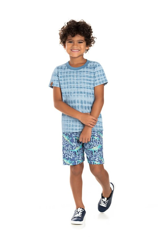 Kit 3 Camisetas Meia Malha Tie Dye 4 a 8
