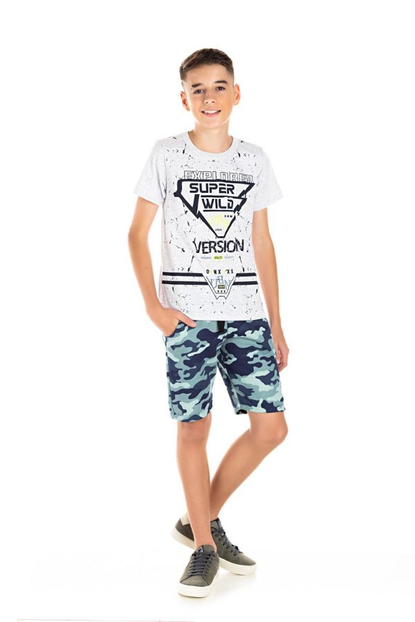 Kit 3 Camisetas Meia Malha Explorer 10 a 14