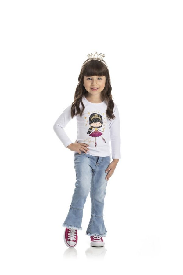 Kit 3 Blusas Cotton Princesa 1 a 3