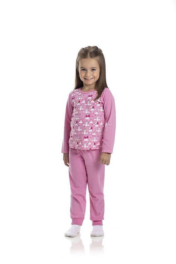 Kit 3 Pijamas Meia Malha Brilha No Escuro 1 a 3