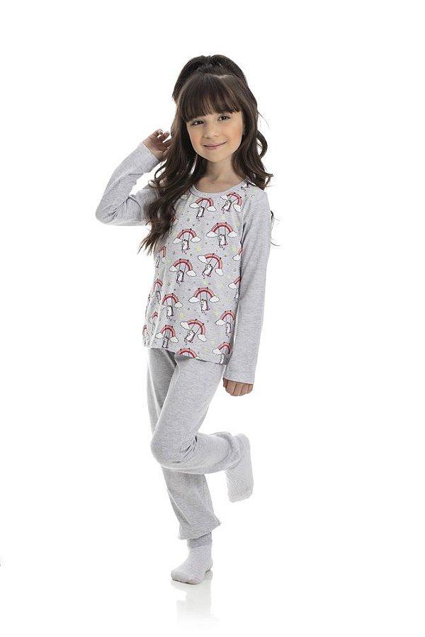 Kit 3 Pijamas Meia Malha Brilha No Escuro 4 a 8