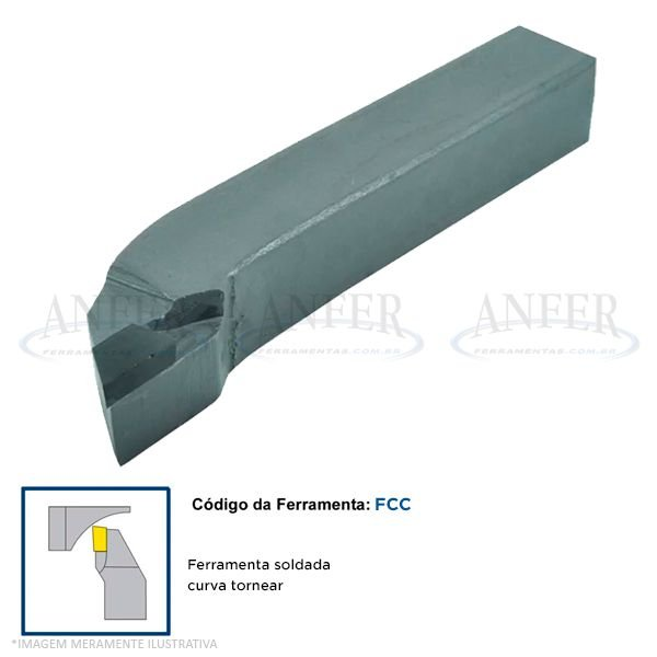 Ferramenta Soldada Curva Tornear FCC 1616 DP30
