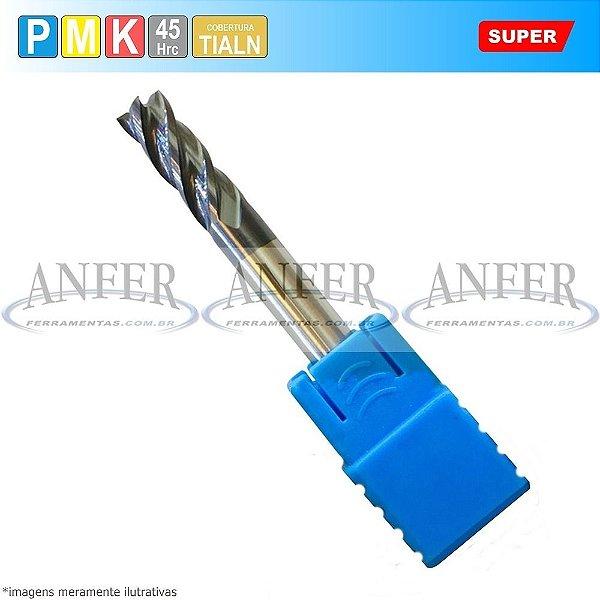 Fresa Metal Duro Topo Reto 45Hrc 4 Cortes Curta 9x20x75mm H10