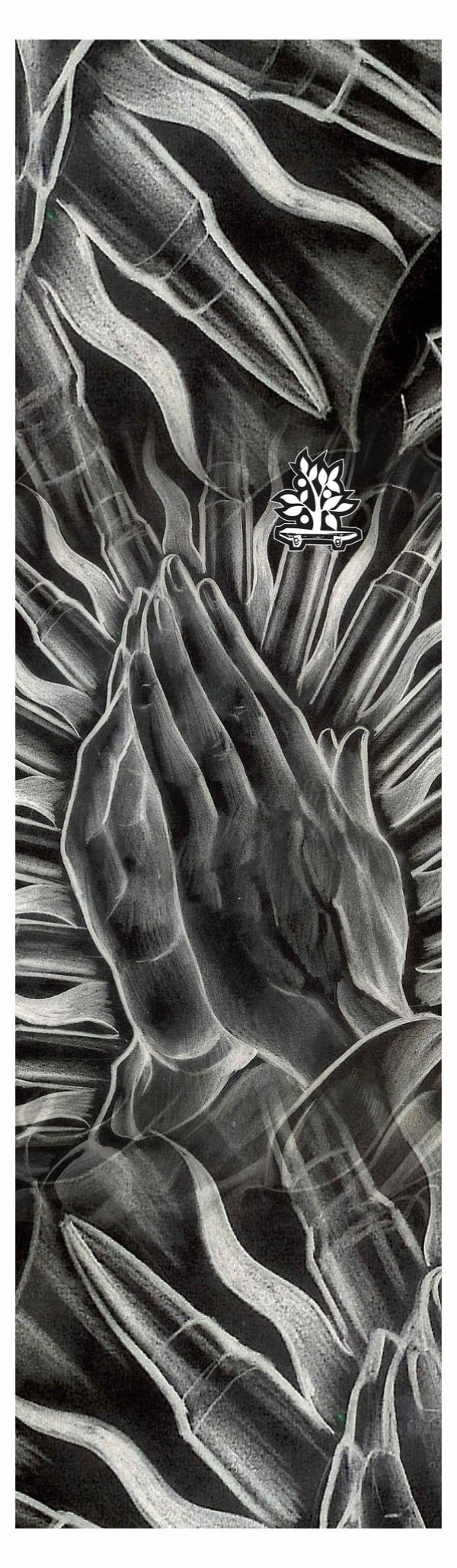 Lixa Emborrachada Wood Light Pray Hands