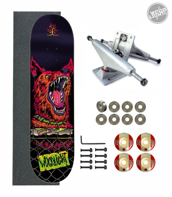 Skate Wood Light Amador Completo Beast
